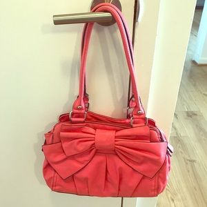 💕Call It Spring Coral Bow Purse💕